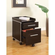 Ergocraft E-Station 2-Drawer Mobile File, Espresso, Letter Size Files (C-1017-BF)