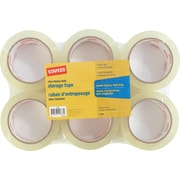 Staples® Storage Tape, 1.89 x 54.7 Yards, 6/Rolls