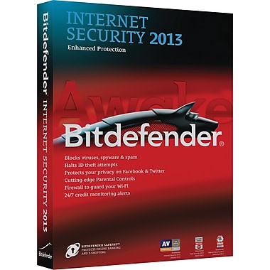 Bitdefender Internet Security 2013 Standard for Windows (3-User) [Boxed]