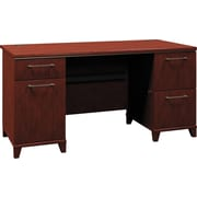 Bush Enterprise 60 Double Pedestal Desk, Harvest Cherry
