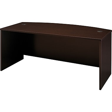 Bush Westfield Bow Front Desk, Mocha Cherry