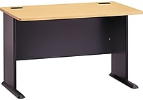 Bush Business Cubix 48W Desk, Euro Beech/Slate