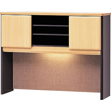 Bush Cubix 48in. Hutch, Euro Beech/Slate Gray