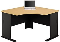 Bush Business Cubix 48W Corner Desk, Euro Beech/Slate