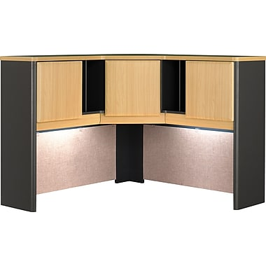 Bush Cubix 48in.W Corner Hutch, Euro Beech