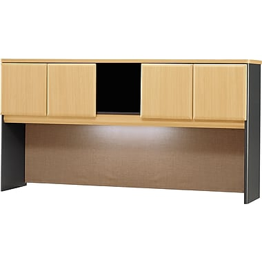 Bush Cubix 72in. Hutch, Beech/Slate Gray