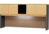 Bush Business Cubix 72W Hutch, Euro Beech/Slate
