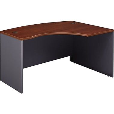 Bush Westfield 60in.W x 43in.D RH L-Bow Desk Shell, Hansen Cherry