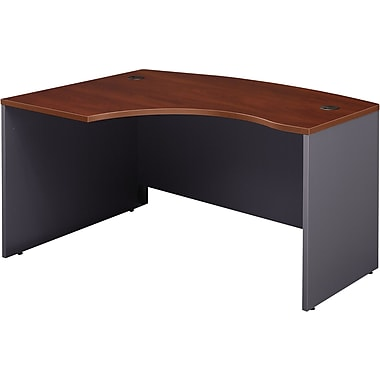 Bush Westfield Left L-Bow Front Desk, Hansen Cherry/Graphite Gray