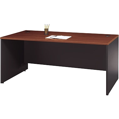 Bush Westfield 72in. Desk, Hansen Cherry/Graphite Gray, Fully assembled