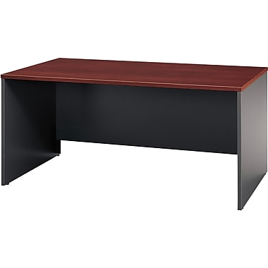Bush Westfield 66in. Manager's Desk, Hansen Cherry/Graphite Gray