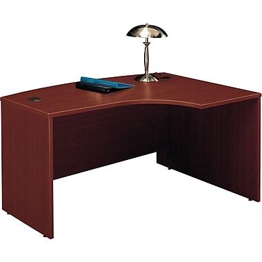 Bush Westfield Right L-Bow Desk, Cherry Mahogany