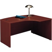 Bush Westfield Right L-Bow Desk, Cherry Mahogany