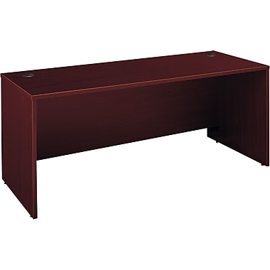 Bush Westfield Bow Front Desk, Cherry Mahogany, Fully assembled