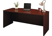 Bush Westfield Bow Front Desk, Cherry Mahogany