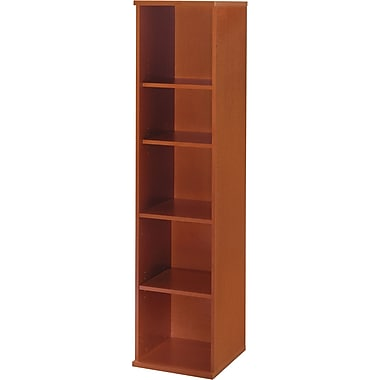 Bush Westfield 5-Shelf Space-Saver Bookcase, Auburn Maple/Graphite Gray