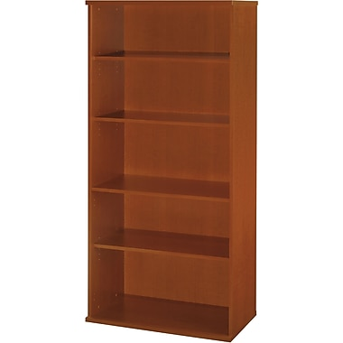 Bush Westfield 5-Shelf Bookcase, Auburn Maple/Graphite Gray