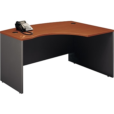 Bush Westfield Right L-Bow Desk, Autumn Cherry/Graphite Gray