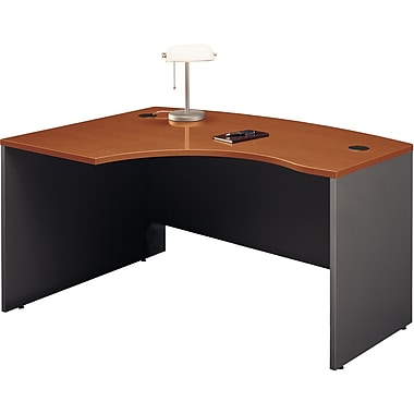Bush Westfield Left L-Bow Front Desk, Autumn Cherry/Graphite Gray