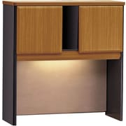 Bush Cubix 36 Hutch, Natural Cherry/Slate Gray
