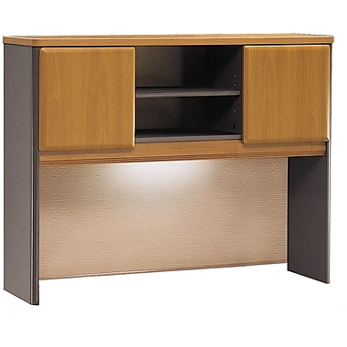Bush Cubix 48in. Hutch, Natural Cherry/Slate Gray