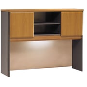 Bush Cubix 48 Hutch, Natural Cherry/Slate Gray