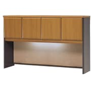 Bush Cubix 60 Hutch, Natural Cherry/Slate Gray