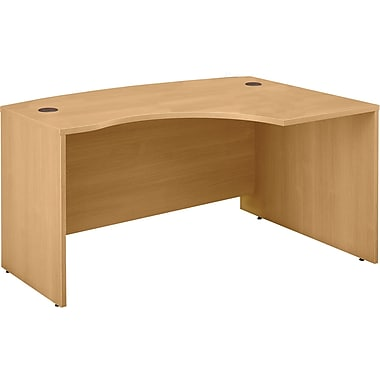 Bush Westfield Right L-Bow Desk, Danish Oak