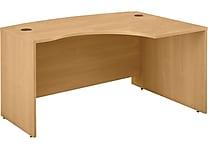 Bush Business Westfield 60W x 43D Right Hand L-Bow Desk Shell, Danish Oak