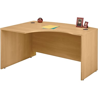Bush Westfield Left L-Bow Front Desk, Light Oak
