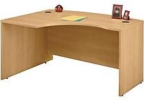 Bush Business Westfield 60W x 43D Left Hand L-Bow Desk Shell, Danish Oak