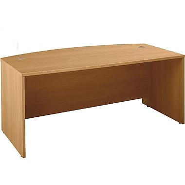 Bush Westfield Bow Front Desk, Light Oak