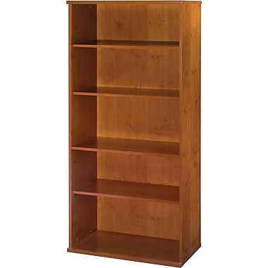 Bush Westfield 5-Shelf Bookcase, Natural Cherry/Graphite Gray