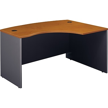 Bush Westfield Right L-Bow Desk, Natural Cherry/Graphite Gray