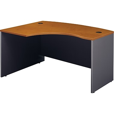 Bush Westfield Left L-Bow Front Desk , Natural Cherry/Graphite Gray