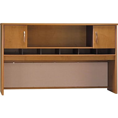 Bush Westfield 72in. 2-Door Hutch, Natural Cherry/Graphite Gray