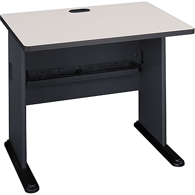 Bush Cubix 36in. Desk,Slate Gray/White Spectrum