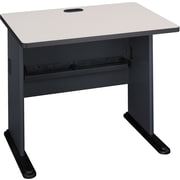Bush Cubix 36 Desk,Slate Gray/White Spectrum