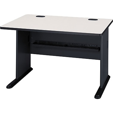 Bush Cubix 48in. Desk, Slate Gray/White Spectrum