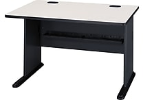 Bush Cubix 48' Desk, Slate Gray/White Spectrum