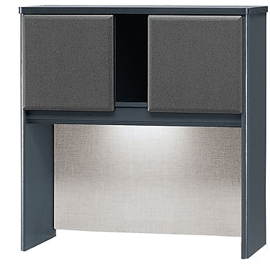 Bush Cubix 36in. Hutch, Slate Gray/White Spectrum