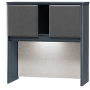 Bush Cubix 36 Hutch, Slate Gray/White Spectrum