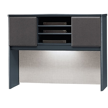 Bush Cubix 48in. Hutch, Slate Gray/White Spectrum