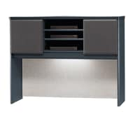 Bush Cubix 48 Hutch, Slate Gray/White Spectrum