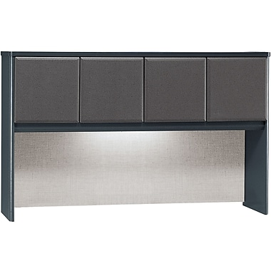 Bush Cubix 60in. Hutch, Slate Gray/White Spectrum