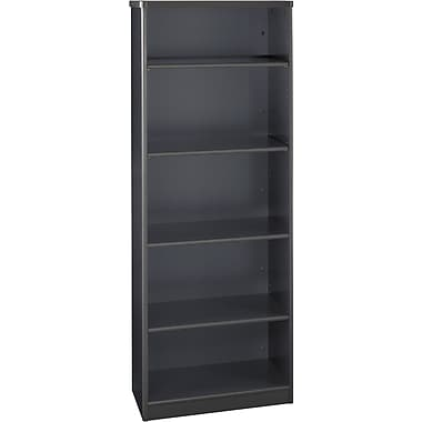 Bush Cubix 5-Shelf Bookcase, Slate Gray/White Spectrum