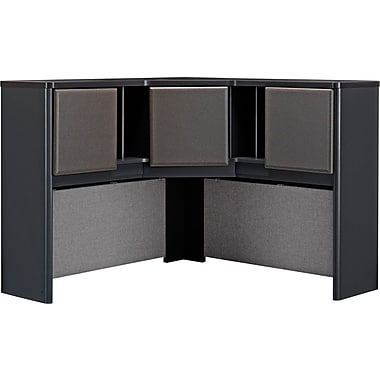Bush Cubix 48in. Corner Hutch, Slate Gray/White Spectrum