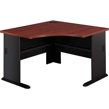 Bush Cubix 48in. Corner Desk, Hansen Cherry/Galaxy
