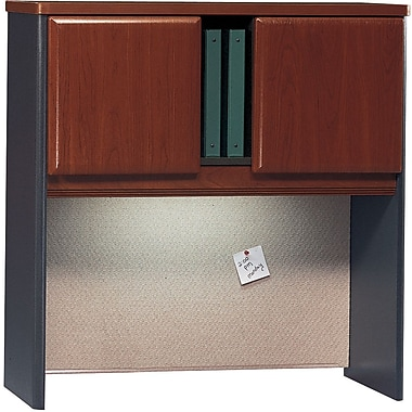 Bush Cubix 36in. Hutch, Hansen Cherry/Galaxy