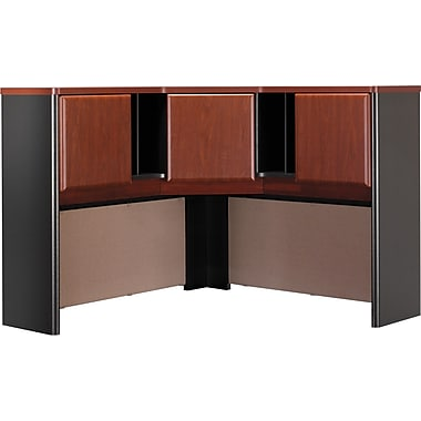 Bush Cubix 48in. Corner Hutch, Hansen Cherry/Galaxy